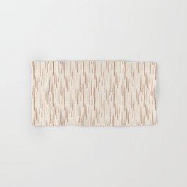 Cavern Clay SW 7701 Grunge Vertical Stripes on Creamy Off White SW7012 Hand & Bath Towel
