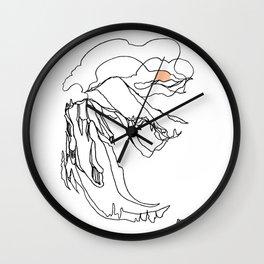 Kokanee Ridge, Revelstoke BC :: Single Line Wall Clock