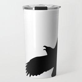 Raven silhouette Travel Mug