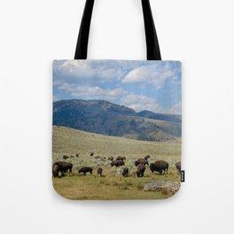 Roaming Bison Tote Bag