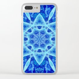 Ice Matrix Mandala Clear iPhone Case