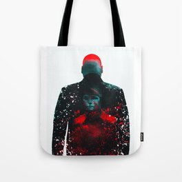 The Rabbit In A Snowstorm Tote Bag