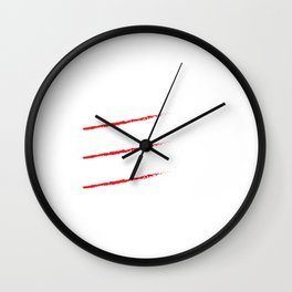 Funny Jerry, Garry, Larry, and Terry T-shirt Wall Clock