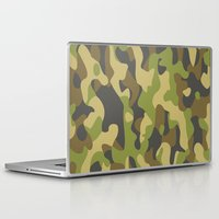 military Laptop & iPad Skins featuring Military Pattern by Crazy Thoom