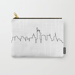 One Line - New York Skyline Carry-All Pouch