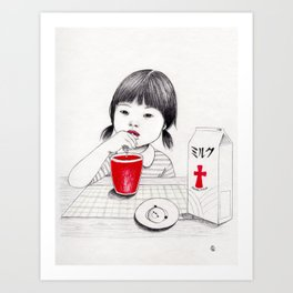 Royal milk Art Print