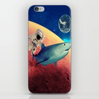 shark iPhone & iPod Skins featuring Shark by Cs025