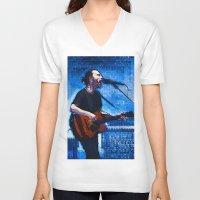 radiohead V-neck T-shirts featuring Radiohead / Thom Yorke by JR van Kampen