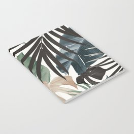 Tropical Jungle Leaves Pattern #13 (Fall Colors) #tropical #decor #art #society6 Notebook