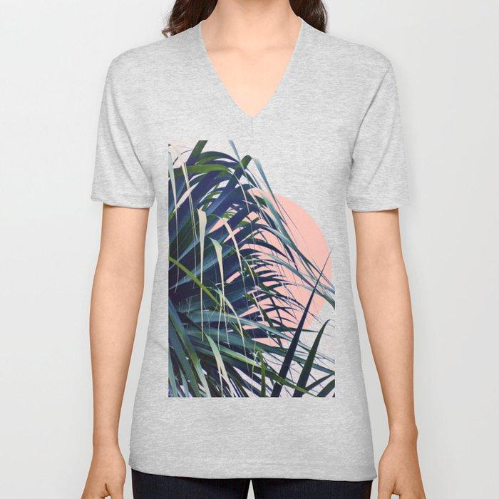 Feather Palm Unisex V-Neck