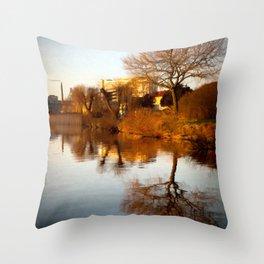 Viborg by the lake Throw Pillow