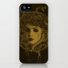 Golden Medusa Greek Mythology Illustration iPhone Case