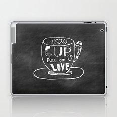 Cup Full Of Love Chalkboard Laptop & iPad Skin