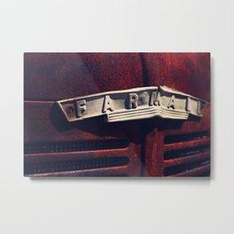 Rusted Farmall Tractor Metal Print