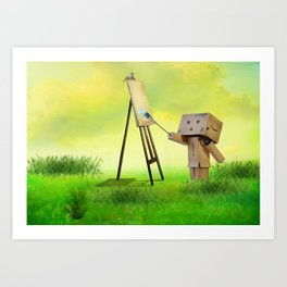 Danbo the artist Art Print