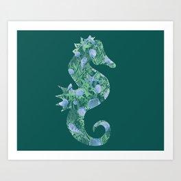 Orament sea horse Art Print