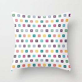 Colorful box seamless pattern design background Throw Pillow
