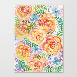 Sunshine and Roses Canvas Print