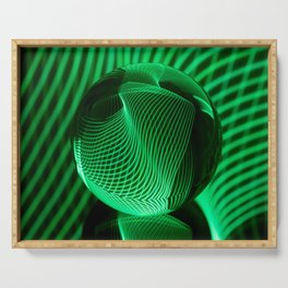 Green in the glass ball Serving Tray