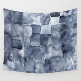 Indigo Watercolor Wall Tapestry