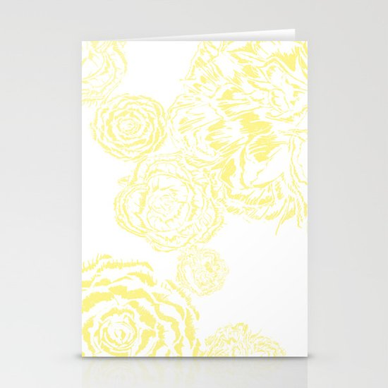 Bloom - Yellow Stationery Cards