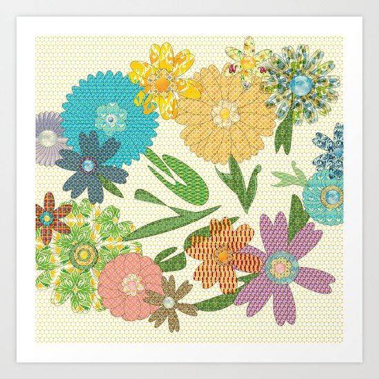 Flower Gardens Art Print