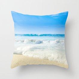 Aloha Beach Days Maui Hawaii Throw Pillow