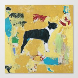Boston Terrier Painting Art Canvas Print