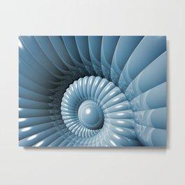 Abstract 3D Nautilus Metal Print