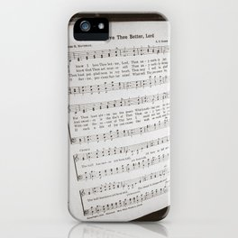I Know I Love Thee Better Lord iPhone Case