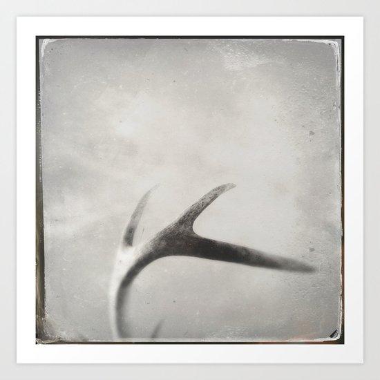 antler tintype Art Print