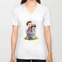 derek hale V-neck T-shirts featuring Hale Kingdom by siny