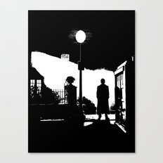 The Exorcist movie poster parody of Doctor Who 10th Canvas Print