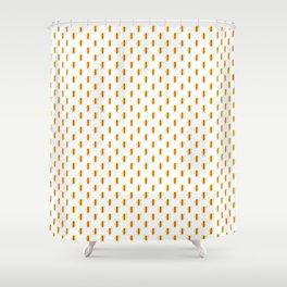 Cute Cartoon Hot Dog Pattern Shower Curtain