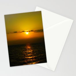 Sunset over the Ocean Stationery Cards
