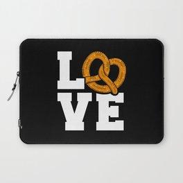 I Love Pretzels National Pretzel Day Laptop Sleeve