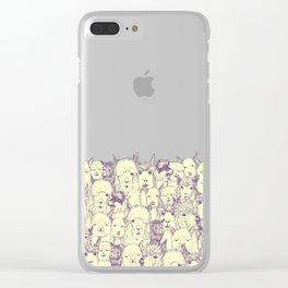 just alpacas purple cream Clear iPhone Case