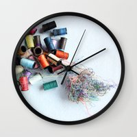 tangled Wall Clocks featuring Tangled by myhideaway