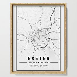Exeter Light City Map Serving Tray