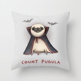 Count Pugula Throw Pillow