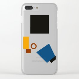 Geometric Abstract Malevic #5 Clear iPhone Case