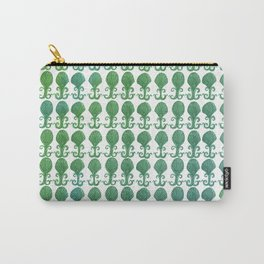 Art Deco Avalon Shell Pattern Green Blue Carry-All Pouch