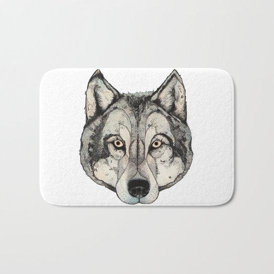 Wolf Mask Bath Mat