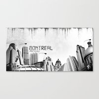 montreal Canvas Prints featuring Montreal by Yan-k