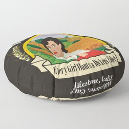 Dickens Cider - Every Girls Likes A Dickens Cider! Floor Pillow