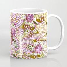 Flower fire | yellow, purple, green and ocre Mug