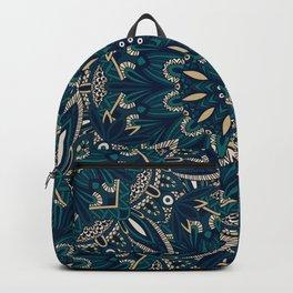 Seamless Tribal Mandala Pattern Backpack