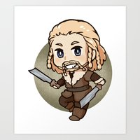 fili Art Prints featuring Fili by Kata (koomalaama)