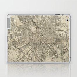Vintage Map of Baltimore MD (1919) Laptop & iPad Skin
