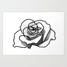 The outline of a Rose Art Print